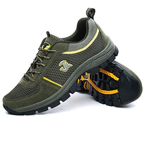 Running Climbing Walking Green HUMGFENG Training Athletic Shoes for Casual Cross Perfect Men's Mountain qH0SHPRg