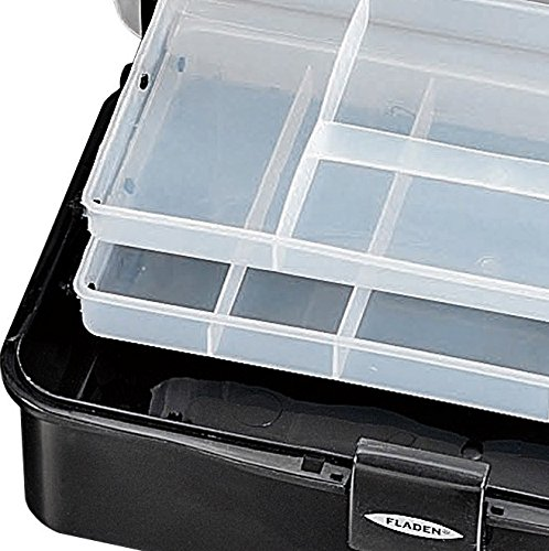 Dimensions 32 x 14 x 18.5 cm FLADEN MEDIUM 19-R561 2 Tray Cantilever Fishing Terminal Tackle Bits Lure Storage Box