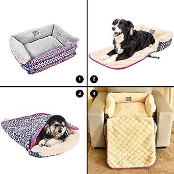 YGJT Cama de Gato Amortiguar Almohada Multifunción Plegable para Perros/Gatitos Sofá Lavable Forma Estable (Gris): Amazon.es: Productos para mascotas