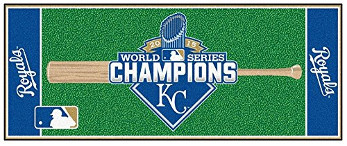 Kansas City Royals 2015 World Series Champions Baseball Runner Mat (Kansas City Royals Baseball Rug)