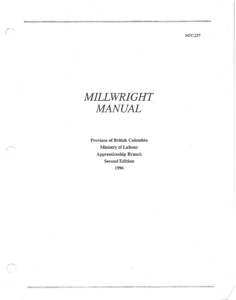 millwright manual study guide millwright manual richard a rh amazon ca