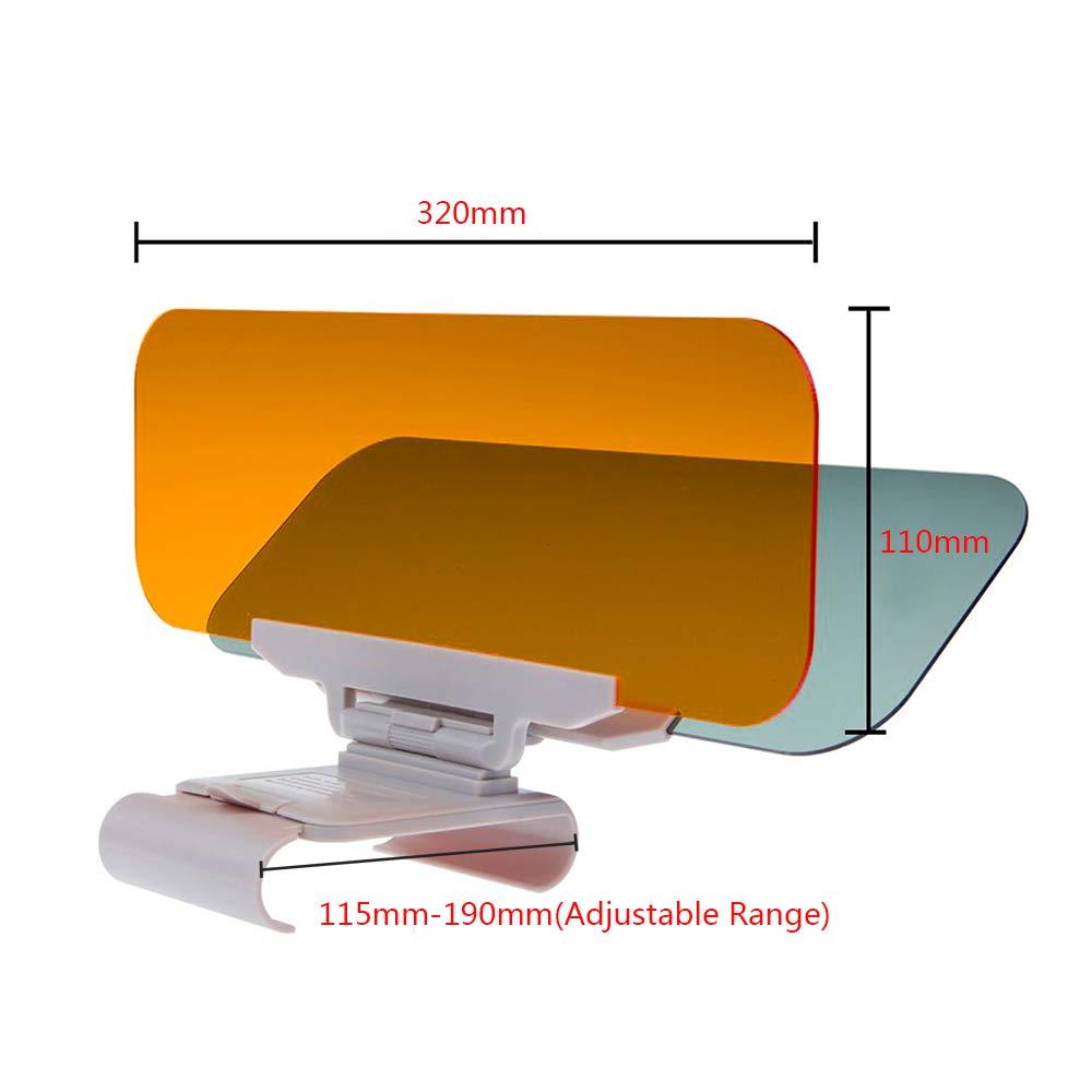 GGIENRUI Car Sun Visor 2 in 1 Day and Night Sun Visor Anti-Glare Driving Visor Eye Protector Anti-Dazzle Sun Visors for Cars Kingrui