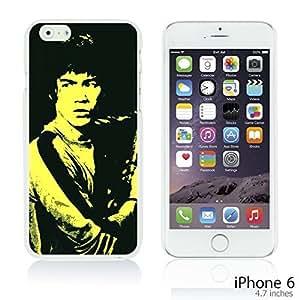 OnlineBestDigitalTM - Celebrity Star Hard Back Case for Apple iPhone 6 (4.7 inch)Smartphone - Bruce Lee in Black Background
