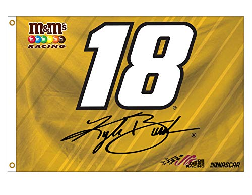 - Kyle Busch #18 Number 3x5 Flag w/Grommets Outdoor House Banner Nascar Racing