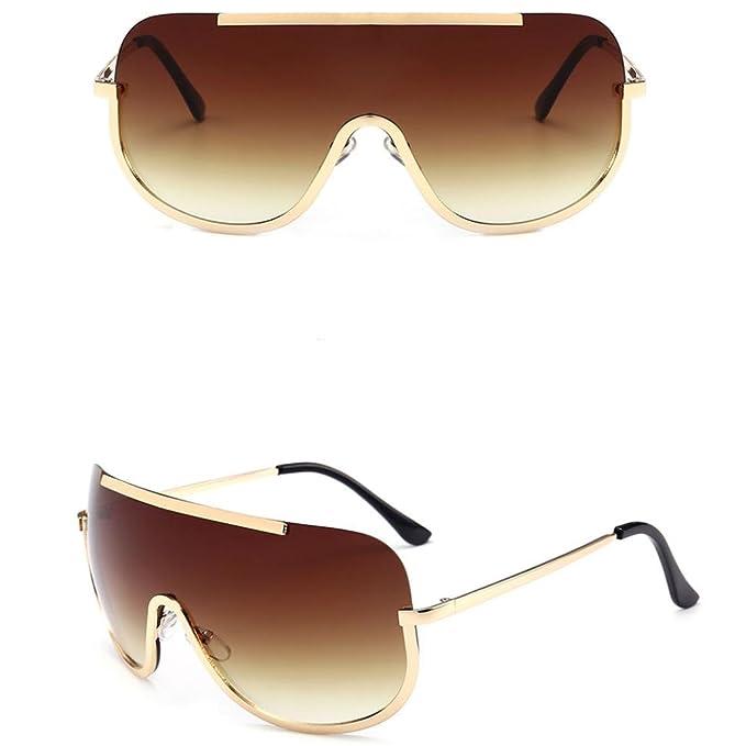 Mode Trend Gläser Großen Rahmen Retro-Sonnenbrille , Grau-Braun