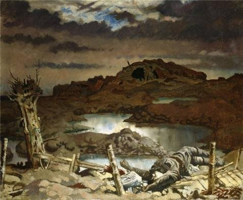 Oil Painting 'William Orpen - Zonnebeke,1918' Printing On High Quality Polyster Canvas , 24x29 Inch / 61x74 Cm ,the Best Basement Decor And Home Decoration And Gifts Is This Best Price Art Decorative Prints On Canvas