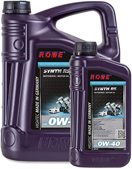 Rowe Hightec Synth Rs Sae 0w 40 Engine Oil 6 5 L 1 L Auto