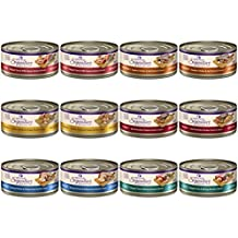 Wellness Core Natural Grain Free Signature Selects Wet Cat Food Variety Pack - 6 Flavors (Chicken, Beef, Tuna & Salmon, Tuna & Shrimp, Turkey and Chicken Liver) 5.3 Ounces Each (12 Total Cans)