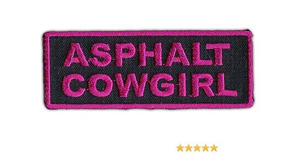 Female Motorcycle Biker Jacket Embroidered Patch Asphalt Cowgirl Lady Biker