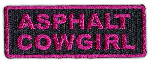 Motorcycle Biker Jacket or Vest Patch - Asphalt Cowgirl - Female, Lady Biker (Textile Jacket Womens Biker)
