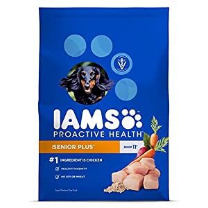 Iams ProActive Health Senior Plus Dry Dog Food for All Dogs – Chicken, 15 Pound Bag