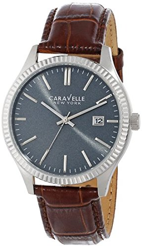 Caravelle New York Men's 43B132 Analog Display Japanese Quartz Brown Watch
