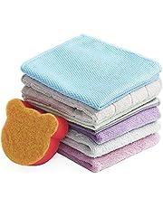 Kingshine Wholesale Soft Microfiber Dishcloths Towels, Wash pot Sponge Cleaning Rags For Glass/Window/Kitchen