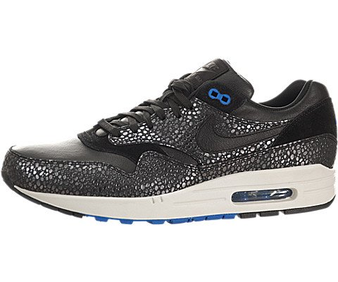 Nike air max 1 Deluxe Mens Trainers 684708 Sneakers Shoes (US 8.5, Black Hyper Cobalt 001) (Nike Air Max 90 Hyper Cobalt)