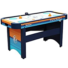 Air Hockey 5 Foot Table with Electronic Scorer, 2 Powerful Blower Motors and Adjustable Leg Levelers. Accessories: 2 Pucks and 2