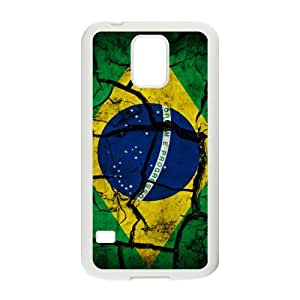 DAZHAHUI Flag of Brazil Phone Case for Samsung Galaxy S5