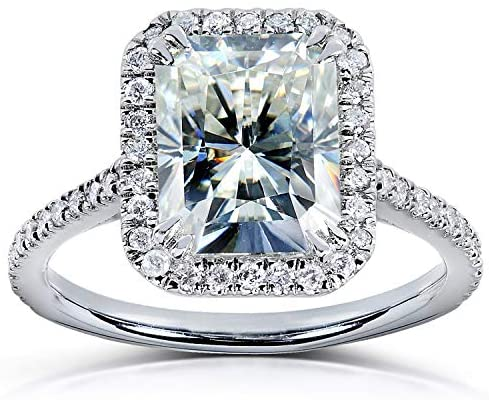 Kobelli Radiant-cut Moissanite Engagement Ring 3 Carat (ctw) in Platinum