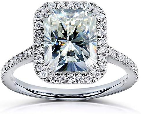 Kobelli Radiant-cut Moissanite Engagement Ring 3 CTW 14k White Gold