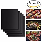5Pcs Heat Resistant Dishwasher Safe Free Reusable Reversible Non-stick BBQ Grill Mat Pan For Charcoal Electric Gas Grill Tools