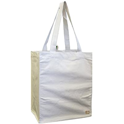 100% Cotton Canvas Oversized Grocery/Multipurpose Tote Bag