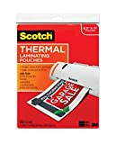 Scotch Thermal Laminating Pouches, 8.9 x 11.4-Inches, 3 mil thick, 20-Pack (TP3854-20),Clear (Office Product)