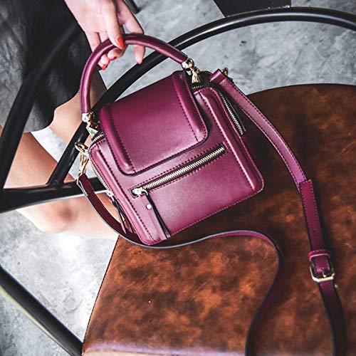 Da Messaggero Rosso Moda Alla colore Rosa A Spalla Donna Vino Rivetto Dimensione CnZqxHqwt