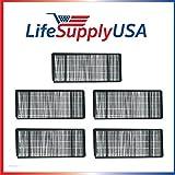 LifeSupplyUSA 5 Pack Replacement Filter fits Honeywell True HEPA Air Purifier HRF-H1 Filter (H)