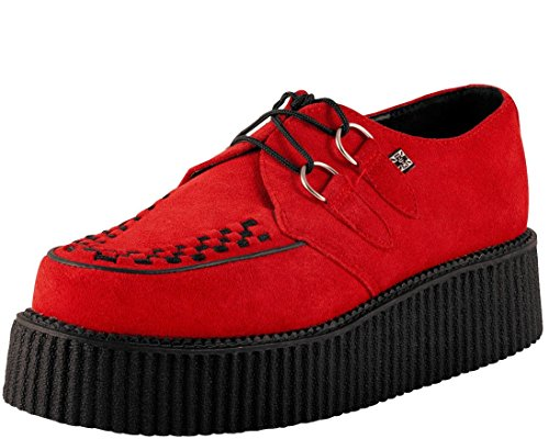 2 Ring Creeper Sneaker (T.U.K. Unisex A8056 Sneaker,Red4 M US Mens/6 M US Womens)