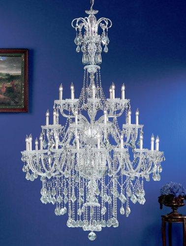 Classic Lighting 8289 CH SC Prague, Crystal All Glass, Chandelier, 56