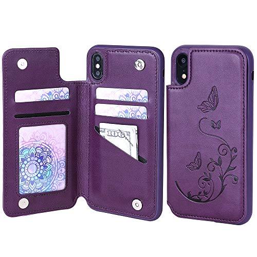 iPhone Leather WaterFox Butterfly Pattern