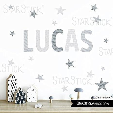 StarStick - Stickers prénom - Couleur gris - Stickers pour chambre ...
