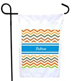 house bolton - Rikki Knight Bolton Blue Chevron Name House or Garden Flag with 11 x 11-Inch Image, 12 x 18-Inch