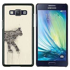 EJOOY---Cubierta de la caja de protección para la piel dura ** Samsung Galaxy A5 A5000 ** --Periódico del gato arte del número 35 de la India felina
