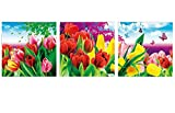 Embroidered 5D new diamond drill full diamond wedding diamonds Cube painting bright flowers,210*70cm