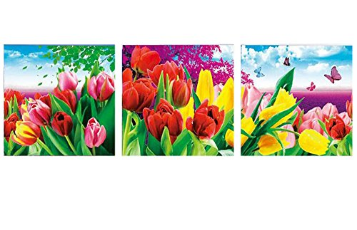 Embroidered 5D new diamond drill full diamond wedding diamonds Cube painting bright flowers,210*70cm by China palaeowind