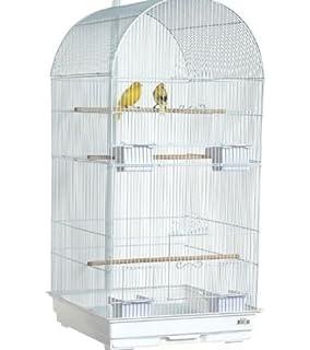 Maxine cromo grande jaula de pájaros para Budgie Canario 48 ...