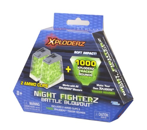 (Night Fighterz Battle Blowout ammo refill pack - 1000 rounds and 2 ammo clips)