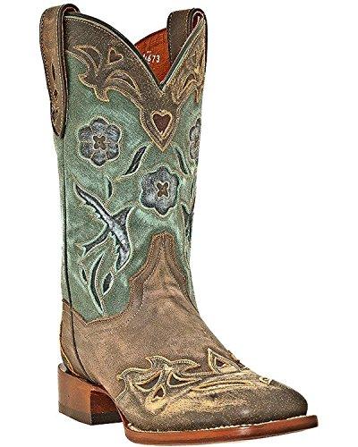 Dan Post Ladies Bluebird Sq Toe Western Boots -