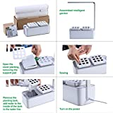 Smart Herb Garden Grower Kit, Pathonor 2 Detachable 18 Pots Seeds DIY Educational Self Watering DWC LED Hydroponics for Indoor Plants Vegetable Flower Include LED Growing Lamp