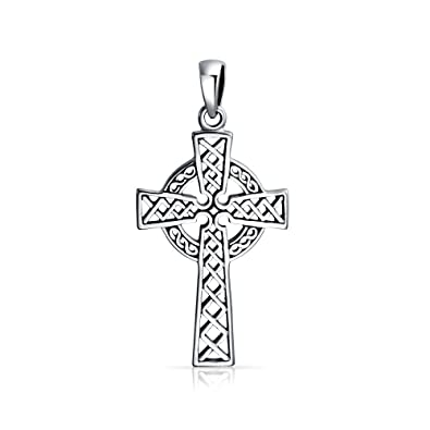 Bling Jewelry Religious Celtic Woven Cross Pendant zXHiSKYS