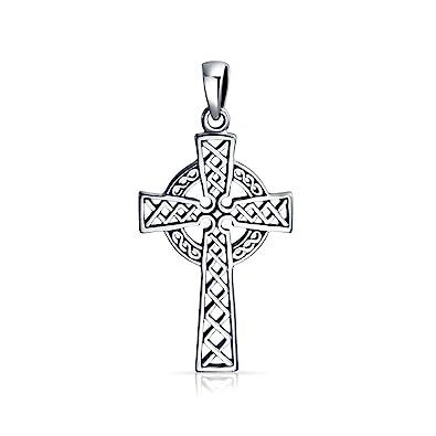 Bling Jewelry Religious Celtic Woven Cross Pendant aYtbM