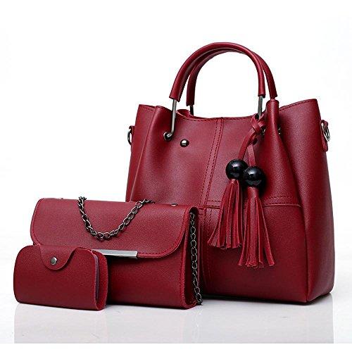 Aoligei Sac femme perles Flow Suzi sac trois pièces de style européen et américain portable sac à bandoulière E