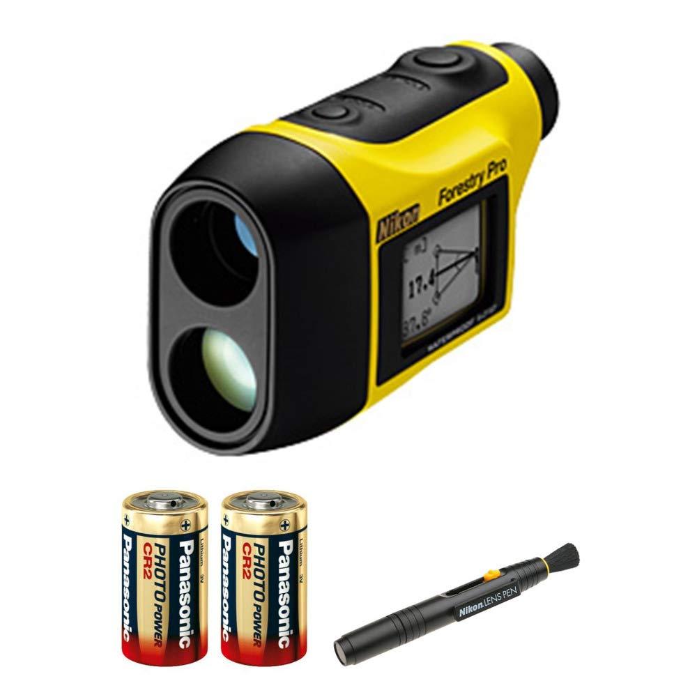 Nikon Forestry Pro Laser Rangefinder with 2 Spare Batteries Lens Pen Bundle