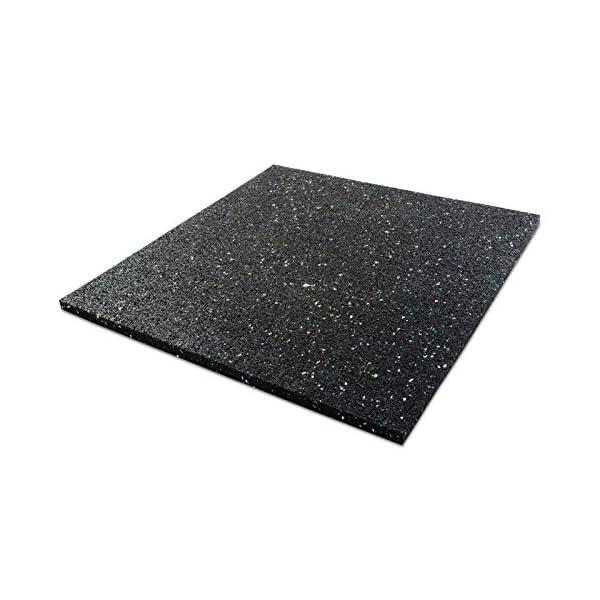 Casa Pura Tapis de Machine À Laver avec haut vibrations de & phonique | 2tailles Noir | en granulés de caoutchouc recyclé, noir, 60 x 60 x 2 cm (L x l x h) 1