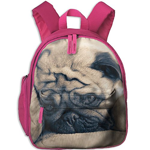 Cute Pug Comfy School Bags,Custom Cute Children Shoulder Daypack,Print Backpack For (Parks And Recreation Costume Party)