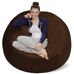 Sofa Sack – Bean Bags Plush, Ultra Soft Memory Bean Bag Chair with Microsuede Cover Stuffed Foam Filled Furniture and…