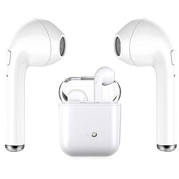 Bluetooth-Headset V4.2-Headset kabelloser In-Ear-Kopfhörer Stereo-Mini-Headset mit Ladekasten und integriertem Mikrofon für i