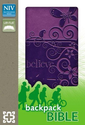 NIV, Backpack Bible, Imitation Leather, Purple