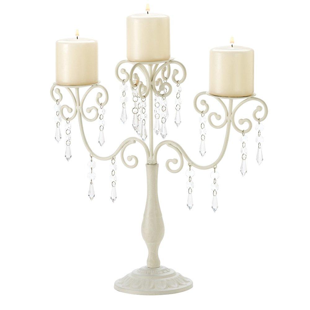 Amazon.com: Gifts & Decor Ivory Candelabra Wedding Gift Centerpiece ...