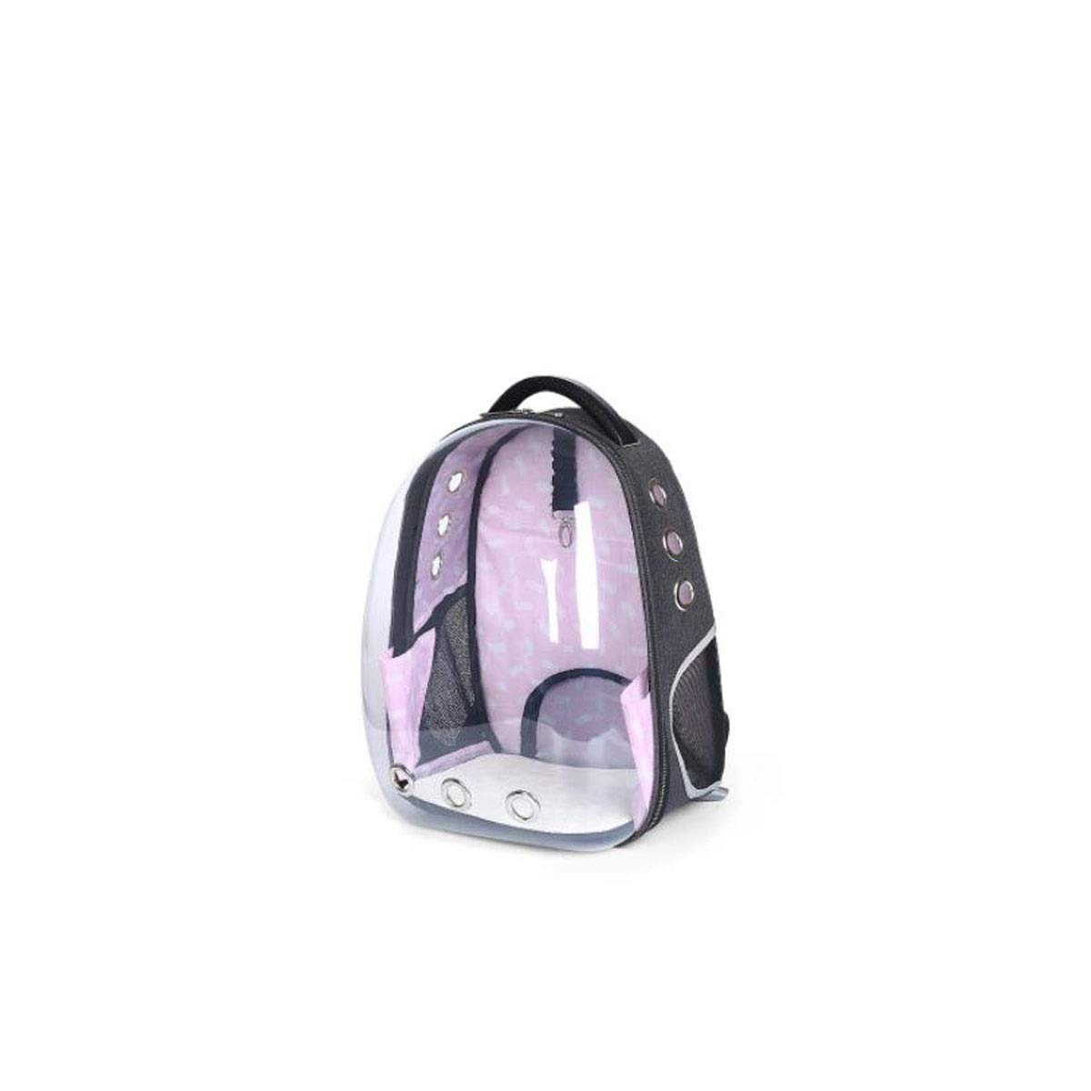 Guyuexuan Cat Backpack, Pet Out Bag, Transparent Cabin, Out Of The Shoulder Bag, Pet Travel Essentials (color   Pink)